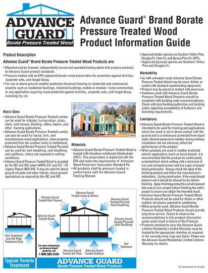 Advance Guard® Treated Wood Product Guide